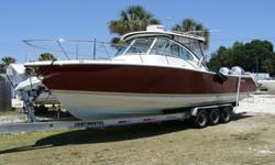 Sportfishing boat powered with twin 225HP Hondas, Generator, hardtop, full canvas and lots of electronics. Engines have factory warranty until 7/14/13 and emissions warranty until 7/14/14