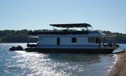65ft Stardust wide body, updated houseboat is in excellent condition and has been well maintained! Kept in covered slip on Bull Shoals Lake near Lead Hill AR. ~ Single engine w/stern thrusters for easy maneuvering ~ Spacious & roomy w/custom, open floor
