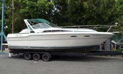 Compare at $25K. Best deal on a 300 Sundancer on the West Coast. Crazy Price! ... Great older cabin cruiser project boat. All original. Twin 350 Mercruiser alpha one, Canvas options, pretty nice for the money, great 2004 trailer included. Trailer is worth