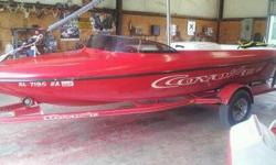 This is a clean 1997 Aztec Coyote boat!!! This boat only has 450hrs on it.We have had this boat out every weekend no problems what so ever. It has a 351 motor in it. New belts, new fuel pump, new radio, new tires on the trailer, new plug wires, new