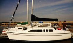 This sailboat is the most versatile and maneuverable 26 footer you will see on the Sailboat market... Weighing in at 5000 lbs, trailer and boat. You can tow it with something as small as a Jeep Cherokee. I bought the boat out in Portland, OR on the