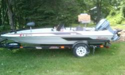LIKE NEW, Fiberglass, two Fish/Depth Finders, Livewell, Minnkota Trolling engine, Navigation lamps, 50 HORSEPOWER Evinrude outboard runs like new, two Swivel seats, Brand new marine radio with two speakers, Rod holders, Cup holders, Compass Comes with all