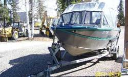 1995 seventeen feet. Sea Runner By Hews Craft, 115 HORSEPOWER Yamaha two stroke engine with whale finn. 75 Hrs. on the motor, 40 gallon belly fuel tank, Dual battery, down rigger, kicker motor bracket, fish finder, radio w/ antena. Furuno plotter, Trim