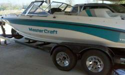 04 07 2011 1991 Mastercraft Tri-Star 220, 22 feet, with an Indmar 454, Chevy Engine. 661 original hours, Sony Stereo, CD AM FM, bimini top, it has a two PC snap-on cover that I rarely pre-owned, and a full storage cover, newer dual axle trailer with surge
