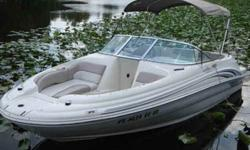 Gorgeous 2002 Sea Ray 190 Sundeck, w/ 5.0 liter mercruiser I/O, 290 hours. Hull, engine and upholstery in excellent condition. Shorelander trailer. Call John @561-601-4648.