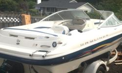 2001 Bayliner Capri 2150 APS III (Advanced Planing System), I/O 5.9L engine, Replaced long block in August. Boat was just serviced engine and outdrive. Has a new battery. (less than 6 hours on boat since work performed - all reciepts, done by US Marine