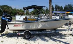 2005 90HP Mercury 4-stroke-just serviced. Garage kept and in great shape, Bimini Galvanized single axle trailer.
