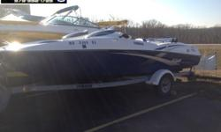Way under book value!!! This is an awesome boat! It has twin 135hp jet drives. You won't have to worry about the kids jumped on the propeller! The swim platform is great for getting in and out the water, strapping on a ski or wakeboard, or just hanging
