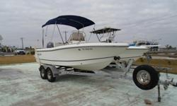 This 2005 Polar 1900 center console is equipped with a yamaha 115 hp outboard motor. Bimini top, dual axel trailer, wood free fiberglass hull construction. Cooler seat at helm with cushion. Lots of storage, runs and looks great. This popular family boat