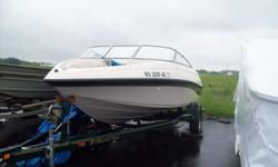 We have a great looking Crownline inboard with a 4.3. Runs great and looks great come in and take a look any time between 8