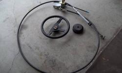 I have a complete teleflex steering system that I removed from my 14' boat.It is complete(including transom cable support)and in great shape.Has 11' of cable.should work in a 14 or 15' boat.$120.00 Pat(208)262-9040