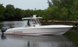 2007 Wellcraft 35 SCARAB Fast-action, center console with proven soft ride, time tested style and layout.Low hour triple Yamaha power and aluminum trailer further enhance the package. For more information please call