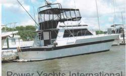 Nicely appointed convertible sport fish with accommodations for 4 in two staterooms. Built by the Kha Shing yard, one of the top yards in Taiwan. Floors are teak with throw rugs to protect them. This is only the second owner, with the original owner being