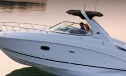 In addition to being trailerable with a wide-load permit, our 280 Sundancer focuses on flexibility with a reversible doublewide helm seat, fold-down sun pad, wet bar with available stainless-steel barbecue grill, and refined interior that sleeps four and