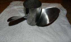 Pre-owned Stainless Steel BALLISTIC propeller. Has a few dings but for this price you can't beat it. 14 1/2 X nineteen is size. Has hub that will change out so it could fit any motor. Call or Text 228-217-9581Listing originally posted at http