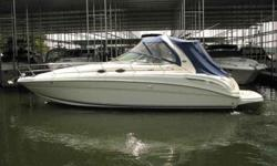 2002 Sea Ray 36 SUNDANCER Deluxe family cruiser with premium amenities combines signature Sea Ray luxury with great styling and performance. Upscale interior with cherry wood cabinets, Ultra-leather seating gets high marks for superior furnishings,