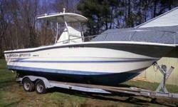 25 ft Hydra Sports Fishing Boat 1997 Suzuki DT225 motor T-Top w/fiberglass Hardtop Windlass GPS / Fish Finder Stero Plus a few eatras