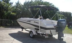 Low low hours on a 100hp 4 stroke yamaha only 127 hrs painted bottom this Jan., bimi, radio, excellent condition trailer included with chrome wheels and new bushings and bearings