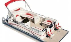 """Construction ¨ 18' Length - 8' wide ¨ Two ? 23"""" diameter pontoons ¨ Heavy duty 3"""" reinforced deck rail ¨ Heavy duty C-channel crossbeams ¨ Corner castings all four corners ¨ Extra heavy duty motor pod double bolted with 3/8"""" SST bolts attached to seven"""