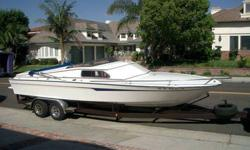 """$12,500, OR REASONABLE OFFER......COOL CLASSIC!!! Great all around boat, and with the """"ooomph"""" for the wake boards, skis & tow toys! In fact the """"wake is so great"""" that we get followed all over the lake by Waverunners!! 454/425 HP Mercury Out drive"""