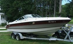 This Boat is absolutely cherry, runs 100%, great fun, fast, great stereo, mooring cover, camper cover, porta pottie, Magama gas grille, fish/depth finder, ALL USCG equiptment, skis, tube, fenders, 13lb & 7lb danforth anchors, plenty of towropes and anchor