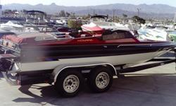 1992 Howard Open Bow 21' Boat, Merc. 350/Mag, Custom Grapics, Custom Bimini Top and Cover, Great Havasu Boat