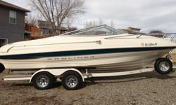 2000 Bayliner Capri 2052 in excellent condition. This is a great running family boat that has more than enough power to pull skiers, wakeboarders, or tubes. Runs strong and gets great fuel mileage(made trip from Bullfrog to Wahweap on one tank of fuel).