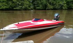 Boat started as project at the beginning of last summer. Got a good way through and now have decided to change my hobby . Just needs some finishing touches. Boat was only intend to be used as lake/weekend entertainment. Motor is a 225, was also bought at