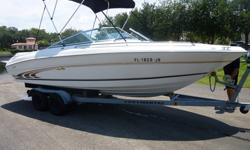 A 1997 Sea Ray 210 Signature. The boat is in pristine condition, only used in fresh water, X-4 Lowrance 2010 model, rated for 8 people, stainless propeller, Bimini top, new clarion stereo, new manifolds and risers, late model continental trailer . This