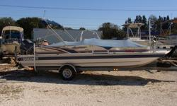 228 Fun Deck, 115 Yamaha 4-stroke fuel injected, Galvanized trailer with new tires, bunks, rims, hubs and fenders, Full canvas cover, Bimini, Private porti potti, stainless steel tow bracket with rod holders, VHF, Lowrance fishfinder, am/fm stereo,