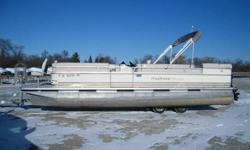 Used 24 foot pontoon boats don't last very long!!!! Better hurry!!!! Powered with a Mercury 75hp two stroke. Other equipment included