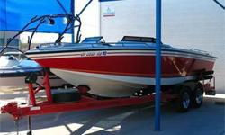 Water Sports! Kevlar Supratrac Hull, 375 HP 454BB PleasureCraft Marine Engine/Trans Mid-Engine Direct Drive w/ Top Mount Starter, Large Extended Swim Platform, Ski Tow, Mid-Mount Ski/Wake Tow Pylon, Open Bow, Stereo, Cup Holders, Built-In Cooler, Double