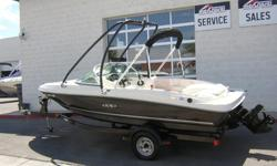 Ultra clean 17.5 foot open bow with a 3.0L Mercury engine wake board tower, bimini top with boot, single axle trailer, just serviced and is lake ready now.Offshore Marine -- NV. #1 Dealer in sales and servicePhone (702) 567-09901090 E. Lake Mead Parkway
