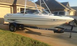 2002 Glastron 195sx Runabout; 19 ft; On he lake Summer 2012... Runs great!!!5.7 liter Volvo-Penta (Professionally installed in May 2012 - runs great... Lots of power); 20 hours on engine; upgraded from 5.0 liter engine;Volvo-Penta SX-M outdrive