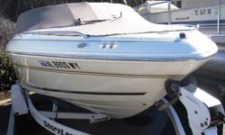 Ultra clean 97 Sea ray 190 bowrider loaded with cool options including bimini top, snap on covers, full instrumentation, tilt wheel, tandem axle trailer and best of all a 5.7 liter 350cid V8 motor with only 320 hours!!!. It is incredibly rare to find a V8