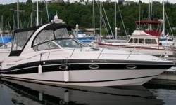 This low time 2007 Four Winns Vista 318 express cruiser powered by dual Volvo Penta Ocean Series outdrives (5.7L) for optimal fuel economy and performance. It's fully equipped for fresh and salt water with in-dash Raymarine C80 rader, fish finder, and