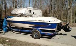 Stock Number: 720911. Great condition - garage stored - well maintianed 2003 Glastron GX 185 Color is white and blue this is the fish/ski model which features the following extras minn kota trolling motor humming bird fish locator front and rear casting