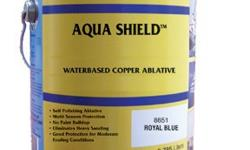AQUA SHIELD outperformed Pettit Hydrocoat, Sea Hawk MontereyAqua Shield has a high copper content (45%) in a water base ablative technology. This coating will provide multi-season protection for high fouling conditions. No paint build-up will occur and
