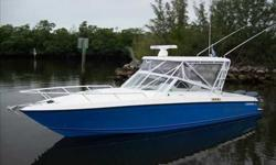 2007 Contender 35 SIDE CONSOLE One of the most functional layouts ever offered in a large outboard Express boat. Good looking, quick and very clean. Loaded with equipment. Fantastic performance and soft ride. Dry stored with full boat cover since new.