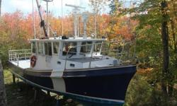 42? Survey or Research Boat1990 / Registered in OttawaLENGTH: 12.8 meters / 42 feetBEAM: 3.84 meters / 12.6 feetDRAFT: 1.4 meters / 4.5 feet2.6 GROSS / NET TONS: 18.27 / 7.96BUILDER: Bateaux De Mer Ltee, Cocagne, NBCRUSING SPEED: 15 knots