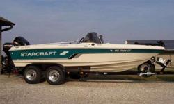 """1996 Starcraft Tournament Pro 180 (Fiberglass) 18'6"""" dual console, Fiberglass Multi Specie Big Water Boat Teal Green/White (4) Seats plus pro pole (bicycle seat) (4) bank onboard charger (3) Deep cycle batteries (new in 2009) (1) Starting battery (new in"""