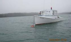 """30 feet Repco lobster boat/ fiberglass hull in attractive shape, pre-owned daily. Has a 292 chevy, borg warner clutch, hydraulic 12"""" hauler, many electronics"""