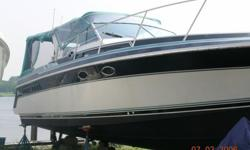 32ft. Wellcraft St.Tropez, twin 350's FWC, well maintained and in great condition. Sleeps 6, portable A/C, central vac. Turn key, in the water. Asking 15,000, make an offer.