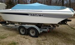 This is an absolute gorgeous 1992 Fountain 27 Fever power boat that packs a punch with a single 454 Mercruiser with Bravo One drive. She comes with snap cover, stereo, full instrumentation, K plane tabs, and so much more!