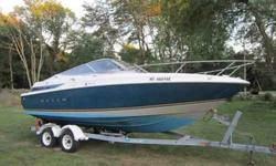 NICE MAXUM 2300SC..RECENT 5.7 REPOWER WITH ABOUT 4 HRS ON IT..RISERS CARB ALL CHANGED WITH THE ENGINE... HAS HEAD, SINK, STERN SHOWER, LOWRANCE GPS AND MORE!!!MERCRUISER DRIVE ITH NEW PUMP, BELLOWS SSPROP WITH BACKUP ALUMINUM PROP...COMES WITH THE EXTRA