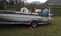 2000 Pro Master by Sprint Boats 210 This Pro Master by Sprint outboard middle console has a fiberglass hull, is 21 ft long and 94ins wide at the widest point. The boat weighs approx 1200 lbs with an empty fuel tank and without any gear, motor, or