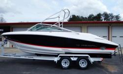 "2005 REGAL 2200 BOW RIDER SKI/WAKEBOARD BOAT. THIS IS A 22' 2"" BOAT WITH AN 8' 6"" BEAM. THE ENGINE IS A FUEL INJECTED 5.7 LITER V8 WITH A VOLVO PENTA DUOPROP OUTDRIVE. IT HAS CORSA SIDE EXHAUST THAT CAN BE SWITCHED TO QUIET MODE. THE BOAT RUNS GREAT WITH"