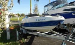 2006 186 Larson Senza powered by a 4.3L Volvo. Very nice 200-300 hour boat. Includes the trailer and Bimini top. No bottom paint. This 19' boat is the sporty one with the bucket seats and the Swim platform. Check out this boat, one owner too. For more