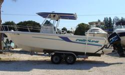 2000 225HP Mercury, walkin center console for head, upholstry excellent, all cushions, dual batteries with switch, large livewell, leaning post seat, VHF Radio, Uniden MC 1010 Marine am/fm/cd stereo, Raytheon L 265 fishfinder, Lowrance GPS, Danforth