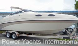 The Genesis 2502 has a Euro look with the swept back windshield and smooth lines. She looks fast and is a comfortable and well put together cuddy cruiser. At 25 feet she is plenty large for a gang for the day. When the crew heads home, a nice cuddy with